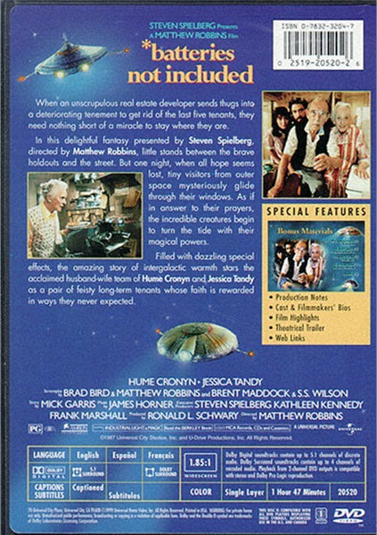 Batteries Not Included (1987) - Hume Cronyn  DVD