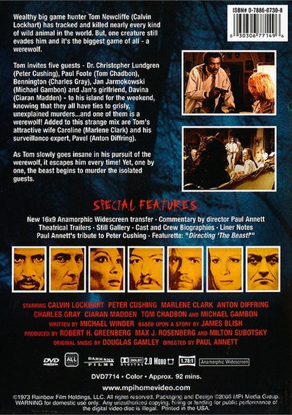The Beast Must Die (1974) - Peter Cushing DVD