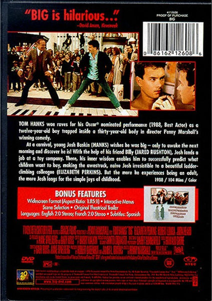 Big (1988) - Tom Hanks  DVD