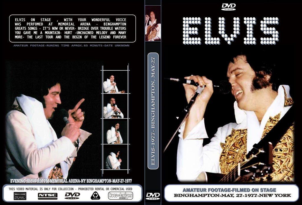 Elvis - The Complete 2nd Night In Binghampton,NY 1977  DVD