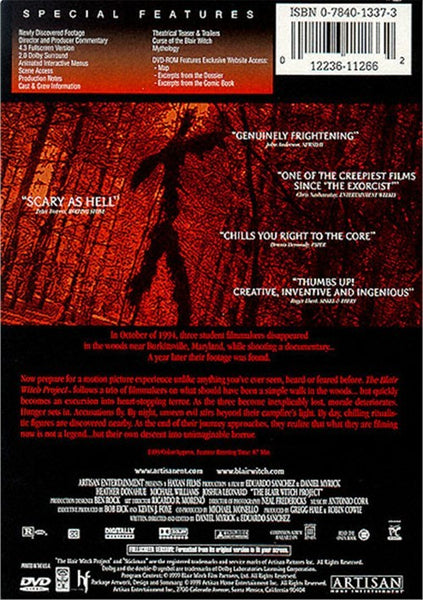 Blair Witch Project : Special Edition (1999) DVD