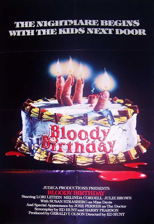 Bloody Birthday (1981) - Michael Dudikoff  DVD