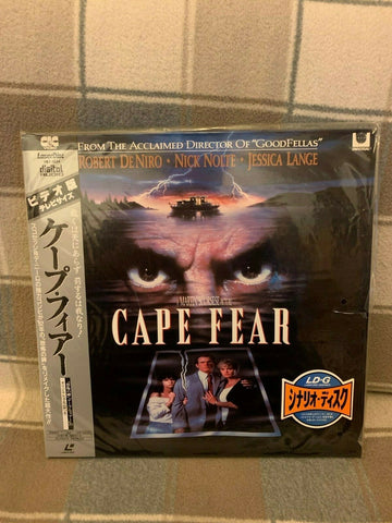 Cape Fear (1991) - Robert De Niro Japan 2 LD Laserdisc Set with OBI