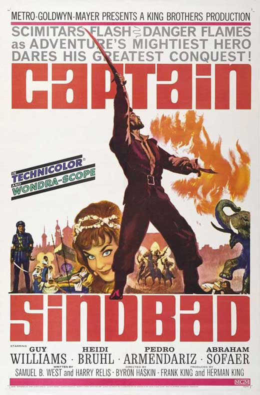 Captain Sindbad (1963) - Guy Williams  DVD
