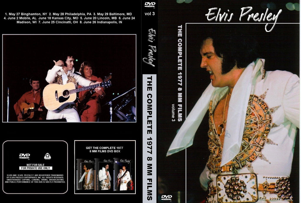 Elvis - Complete 1977 8mm Films Volume 3 DVD