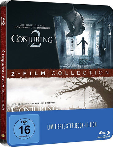 Conjuring Part 1 + 2 - James Wan  Limited STEELBOOK Edition. Blu-ray