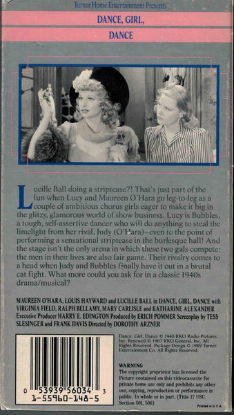 Dance, Girl, Dance (1940) - Lucille Ball  VHS
