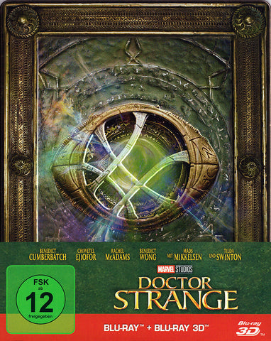 Doctor Strange (2016) - Benedict Cumberbatch Limited STEELBOOK Edition Blu-ray 3D + Blu-ray