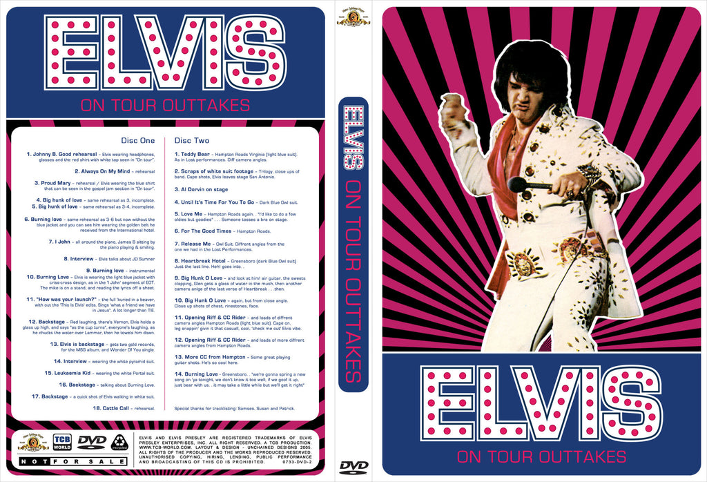 Elvis - On Tour 1972 - The Outtakes  DVD