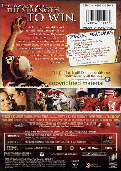 Facing The Giants (2006) - Alex Kendrick  DVD