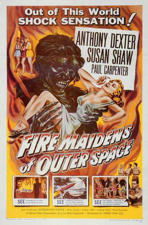 Fire Maidens Of Outer Space (1956)  DVD