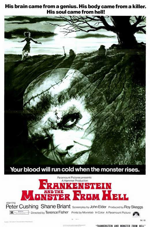 Frankenstein And The Monster From Hell (1974) - P. Cushing DVD