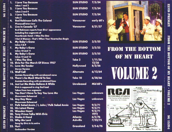From The Bottom Of My Heart : Volume 2  CD