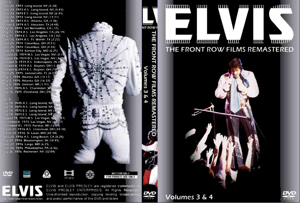Elvis - The Front Row Films Remastered Vol. 3 & 4 DVD