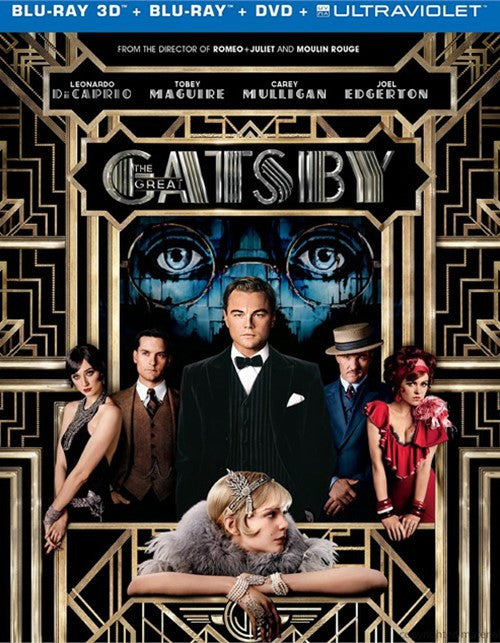 The Great Gatsby (2013) - Leonardo Di Caprio  Blu-ray 3D + Blu-ray + DVD + Ultraviolet