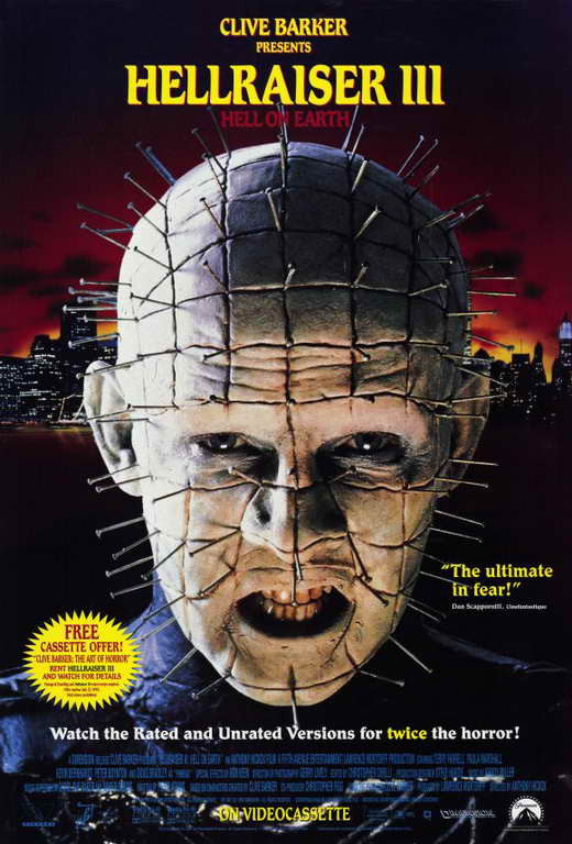 Hellraiser 3 : Hell On Earth (1992)  DVD