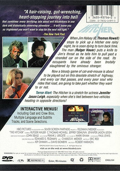 The Hitcher (1984) - Rutger Hauer  DVD