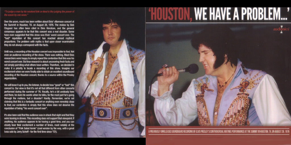 Houston, We Have A Problem - Live In Houston,TX 1976  CD