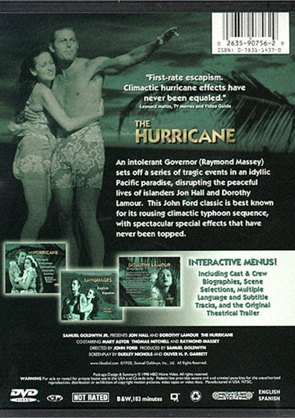The Hurricane (1938) - Jon Hall  DVD