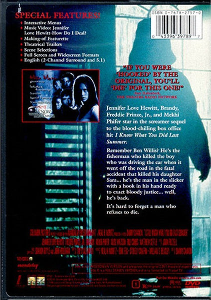I Still Know What You Did Last Summer (1998) - Jennifer Love Hewitt  DVD