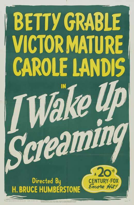 I Wake Up Screaming (1941) - Victor Mature  DVD