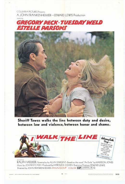 I Walk The Line (1970) - Gregory Peck  DVD