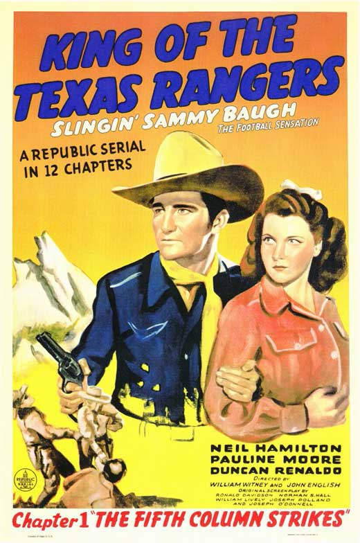 King Of The Texas Rangers (1941) : The Complete Serial  - Sammy Baugh (2 DVD Set)