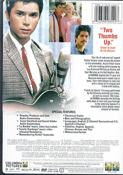 La Bamba (1987) - Lou Diamond Phillips  DVD