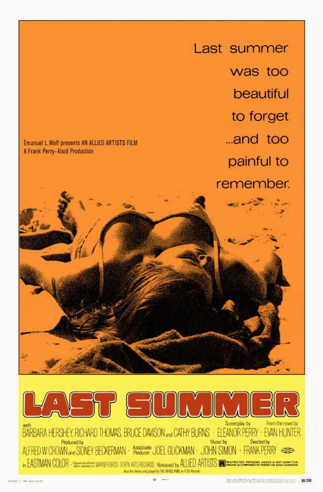 Last Summer AKA Petting (1969) - Barbara Hershey  DVD