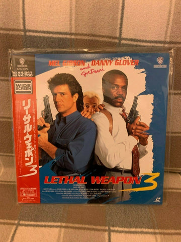 Lethal Weapon 3 (1992) - Mel Gibson Japan LD Laserdisc Set with OBI