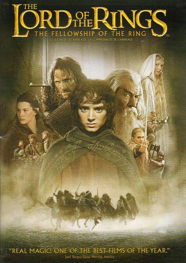 The Lord Of The Rings : The Fellowship Of The Rings (2001) - Elijah Wood  2 DVD Set