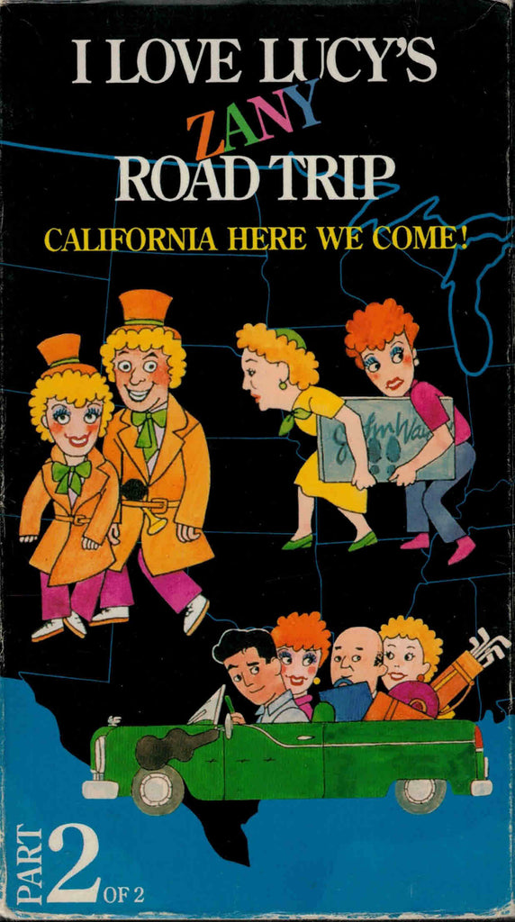 I Love Lucy´s Zany Road Trip : California Here We Come ! Part 2 - Lucille Ball ( 3 VHS Set )