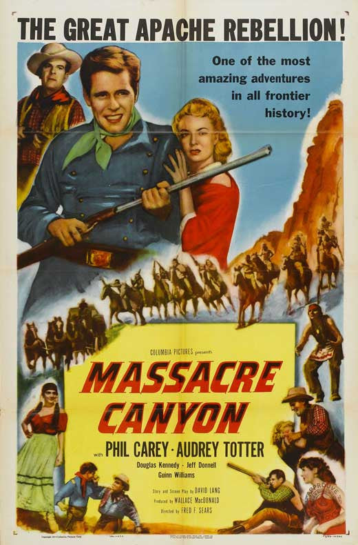Massacre Canyon (1954) - Philip Carey  DVD