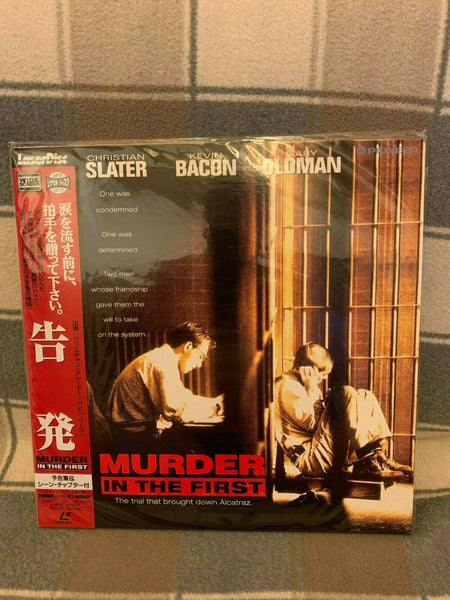 Murder In The First (1994) - Christian Slater  Japan 2 LD Laserdisc Set with OBI
