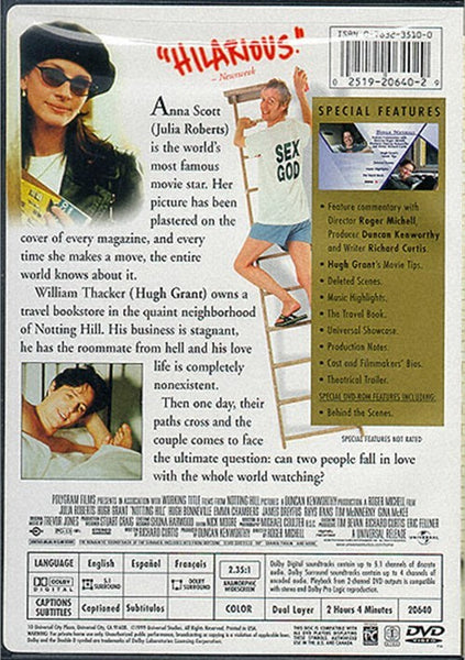 Notting Hill (1999) - Julia Roberts  DVD