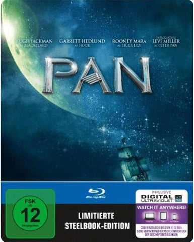 Pan (2015) - Hugh Jackman. Limited STEELBOOK Edition. Blu-ray
