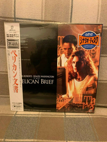 The Pelican Brief (1993) - Denzel Washington  Japan 2 LD Laserdisc Set with OBI