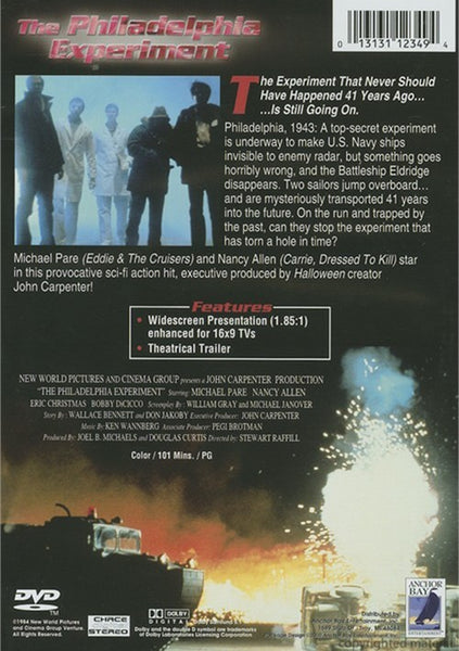 The Philadelphia Experiment (1984) - Michael Pare  DVD