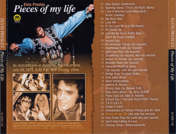 Pieces Of My Life - Live In Asheville, NC 1975  CD
