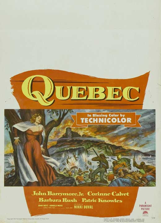 Quebec (1951) - John Drew Barrymore  DVD