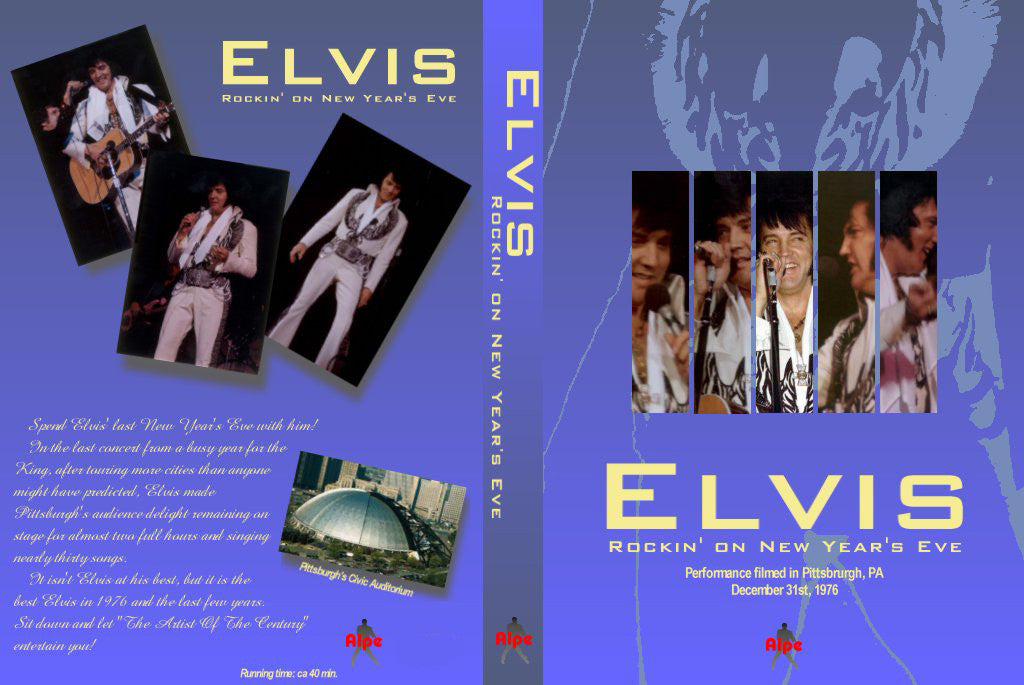 Elvis - Pittsburgh,PA 1976 NEW  DVD