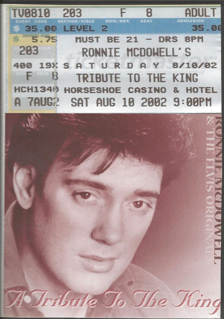 Ronnie McDowell - A Tribute To Elvis DVD