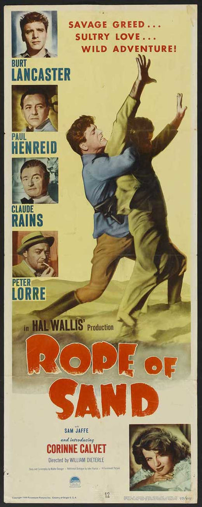 Rope Of Sand (1949) - Burt Lancaster  DVD