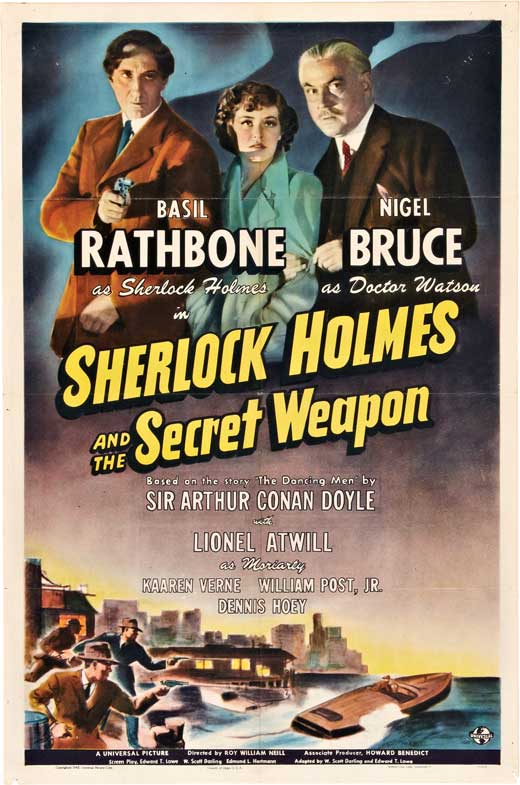 Sherlock Holmes : And The Secret Weapon (1942) - Basil Rathbone Color Version DVD