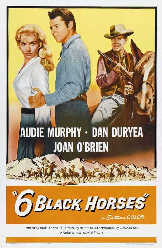 Six Black Horses (1962) - Audie Murphy  DVD