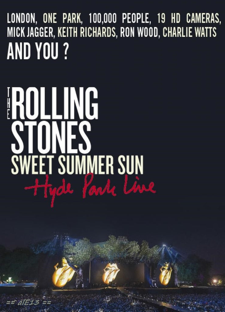 Rolling Stones : Sweet Summer Sun - Live In Hyde Park 2013 DVD