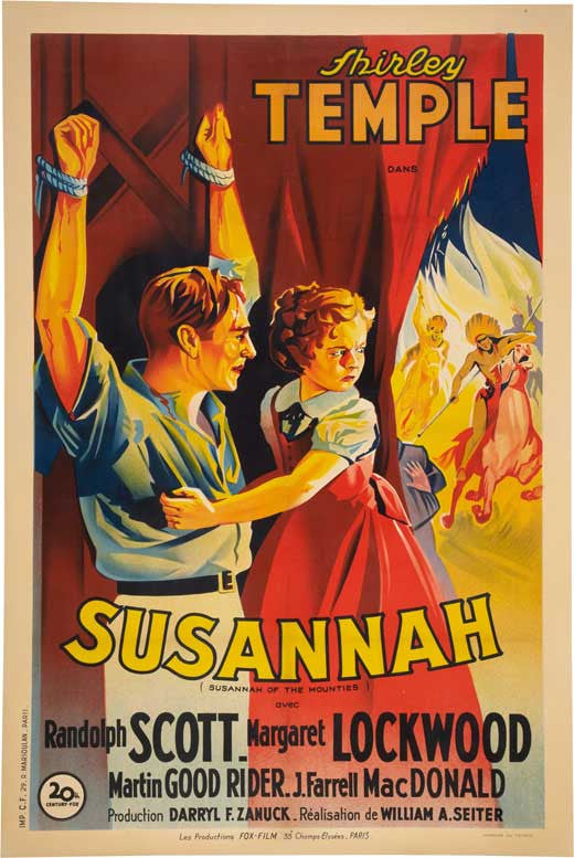 Susannah Of The Mounties (1939) - Shirley Temple Color DVD
