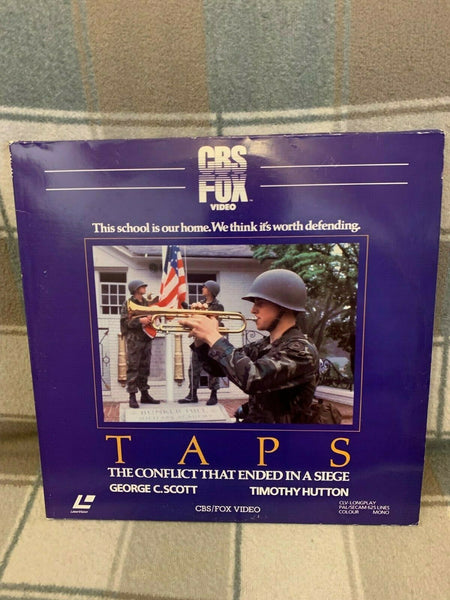 Taps (1981) - George C. Scott Laserdisc  2 Laserdisc Set  PAL