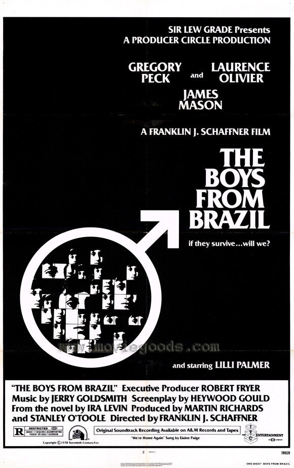 Boys From Brazil (1978) - Gregory Peck  DVD