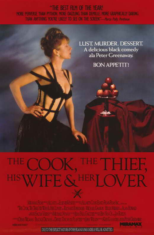 The Cook, The Thief, His Wife & Her Lover (1989) - Helen Mirren UNCUT  DVD